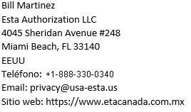 Datos personales, nombre, telefon, direccion, correo