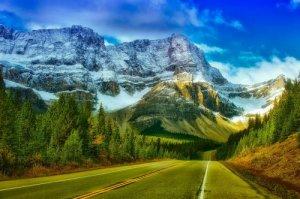 Pintura de carretera natural de Canadá