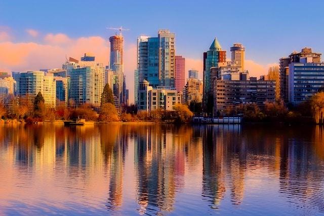 Vista del centro de Vancouver