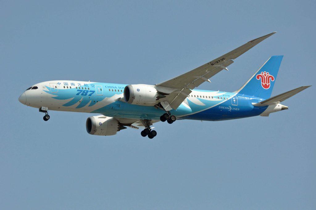 Boeing 787 de la China Southern Airlines volando