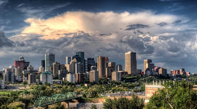 Vista del centro de Edmonton